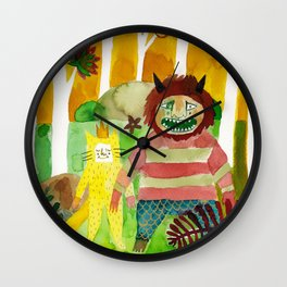 I'll Eat You Up Wall Clock