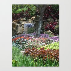 Waterfall Garden Canvas Print