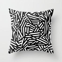 Simply Black and White 1 Throw Pillow