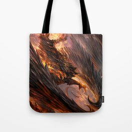 Black Crystal Dragon Tote Bag