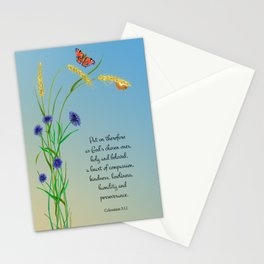 Put on therefore, as God's chosen ones, holy and beloved, a heart of compassion Col 3 v12 Stationery Cards