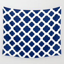 Royal Blue Quatrefoil Wall Tapestry
