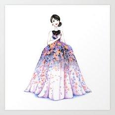 Flower Gown Art Print