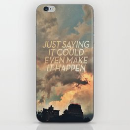 cloudbusting iPhone Skin