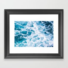 Perfect Ocean Sea Waves Framed Art Print