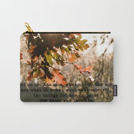 1 Corinthians two nine #bibleverse #inspirational Carry-All Pouch
