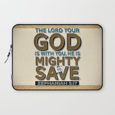 He is Mighty to Save! Laptop Sleeve