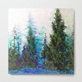 BLUE MOUNTAIN PINE FOREST  VISTA Metal Print