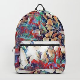 Japanese Inspired Lily Design Sketch Backpack