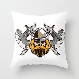Viking Odin | Valhalla Warrior Throw Pillow