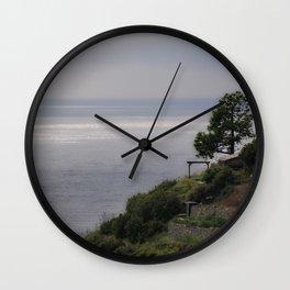 Facing the Sea Wall Clock