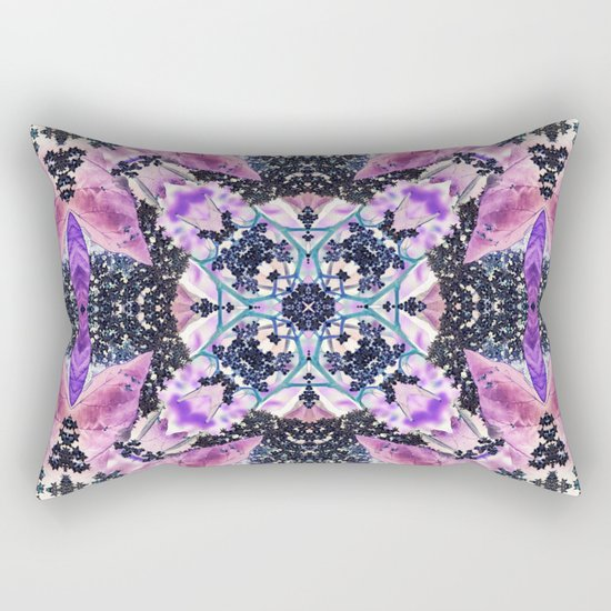Kaleidoscope of night flowers Rectangular Pillow