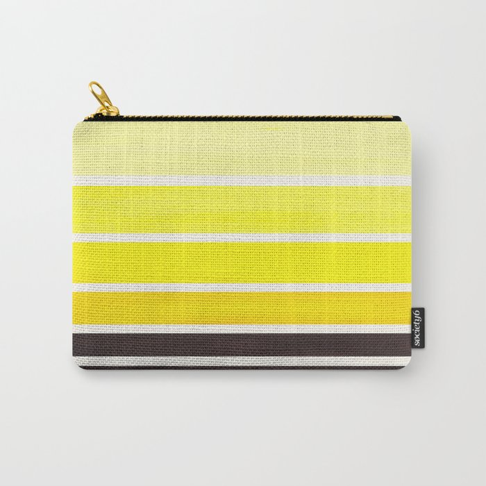 Yellow Minimalist Watercolor Mid Century Staggered Stripes Rothko Color Block Geometric Art Carry-All Pouch
