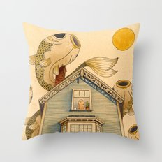 Fish Migration Throw Pillow