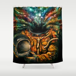 Inhale Shower Curtain