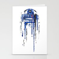 solid Stationery Cards featuring A blue hope 2 by SMAFO