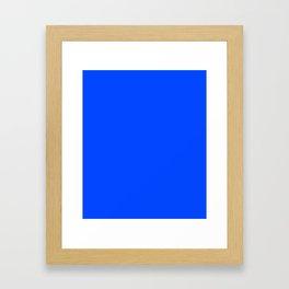 Blue (RYB) - solid color Framed Art Print