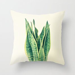 Snake Plant Throw Pillow