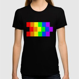 Rainbow flag - Vertical Stripes version T-shirt