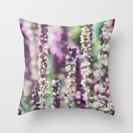 Purple Ribbons Throw Pillow
