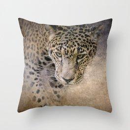 Stalking Her Prey - Wildlife - Leopard Throw Pillow