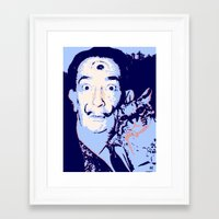 dali Framed Art Prints featuring Dali  by old opps