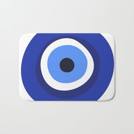 evil eye symbol Bath Mat