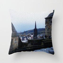View from Edinburgh Castle Throw Pillow