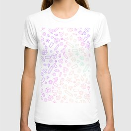 Holographic Neon Gem Pattern T-shirt