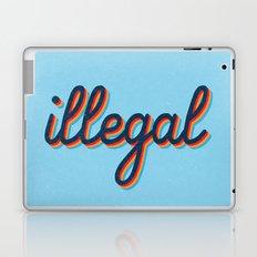 Illegal - blue version Laptop & iPad Skin