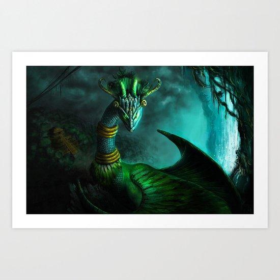 Aztec dragon (older work) Art Print
