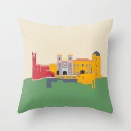 Portugal, Pena Palace, Sintra Throw Pillow