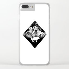 THE LONELY WOLF Clear iPhone Case