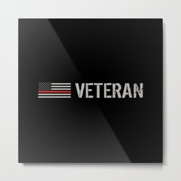 Firefighter Veteran: The Thin Red Line Metal Print