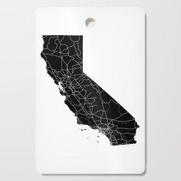 California Black Map Cutting Board