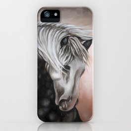 Lusitano Horse Oil Study iPhone Case