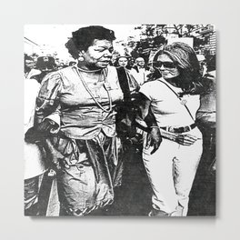 Maya Angelou - Society6 Black PopArt - Marguerite Annie Johnson - Civil Rights - BLM 442 Metal Print