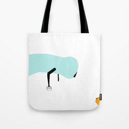 Talking with dad Tote Bag