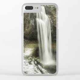 Salt Creek Falls on a Winter's Day Clear iPhone Case