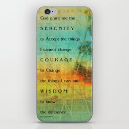 Serenity Prayer Colorful Trees iPhone Skin
