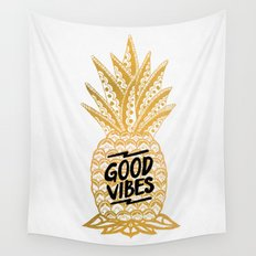 Good Vibes Ananas Wall Tapestry