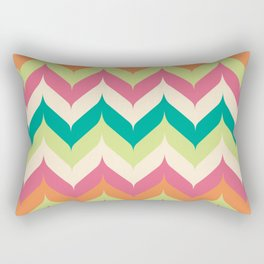 Curvey Herringbone Chevrons Rectangular Pillow