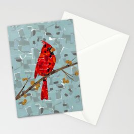Red Cardinal Collage Stationery Cards