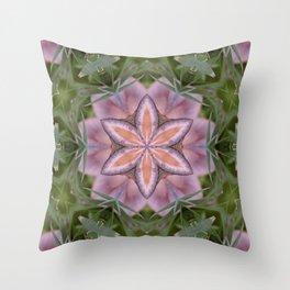Beautiful fungi kaleidoscope Throw Pillow