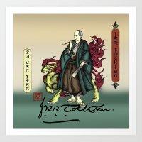 tolkien Art Prints featuring Samurai JRR Tolkien by QStar