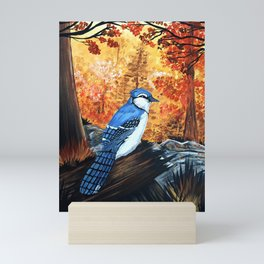 Blue Jay Life Mini Art Print
