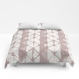 Simply Braided Chevron Clay Pink on Lunar Gray Comforters