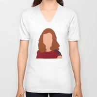 himym V-neck T-shirts featuring Lily Aldrin HIMYM by Rosaura Grant
