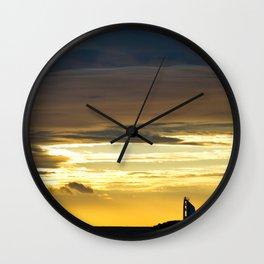 Sea sunset landscape Wall Clock