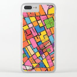 Map of Soho, London Clear iPhone Case
